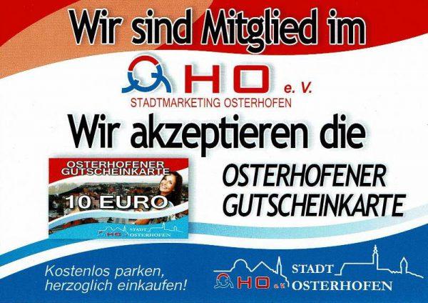 Stadtmarketing Osterhofen OHO Mitgliedsnachweis